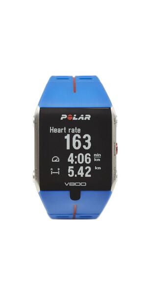 Polar V800 HR GPS-Sportuhr +Herzfrequenz-Sensor blue/red